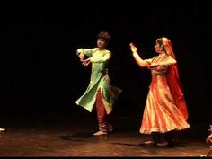 North India ~ Tarana Kathak dance ~ Kathak is found in three distinct forms, named after the cities where the Kathak dance tradition evolved – Jaipur, Benares and Lucknow.[5] Stylistically, the Kathak dance form emphasizes rhythmic foot movements, adorned with small bells (Ghungroo), and the movement harmonized to the music.