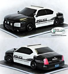 Police Car Grooms Cake for a customer. Crazy Cakes, Fancy Cakes, Cute Cakes, Police Car Cakes, Fireman Cake, Police Party, Police Wedding, Sculpted Cakes, Unique Cakes