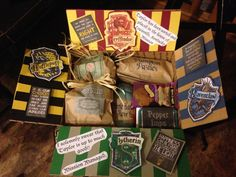 ideas birthday gifts for sister ideas harry potter for 2019 Harry Potter Gift Box, Harry Potter Presents, Harry Potter Themed Gifts, Cadeau Harry Potter, Potter Box, Anniversaire Harry Potter, Harry Potter Birthday, Harry Potter Diy, Birthday Box