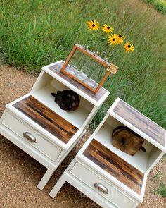 Modern Rustic End Tables