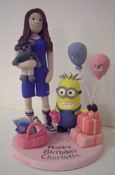 FImo 16th Birthday Cake Topper with Minion from Despicable Me