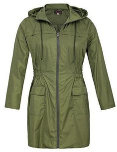 Product review for Hanna Nikole Women Plus Size Lightweight Raincoat Travel Hoodie Rain Jacket HN0037.  - Features: * Material: 100% Polyester * Black / Navy Blue / Army Green * Fixed hood with drawstring around * Waterproof zipper fastening front * Elastic waist * Two patch pockets with cap in the front * Center back split design at the base of hemline Brief Introduction of Hanna Nikole: These... #RaincoatsForWomenTravel #RaincoatsForWomenBlue #RaincoatsForWomenHoods