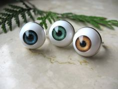 Human EyeBall Hipster ring Halloween Jewelry by tilza on Etsy, $11.00