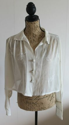 Rare 1910s edwardian blouse victorian white by Lovelievintage