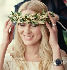 Boho Bridal Halo Featuring Golden Wheat
