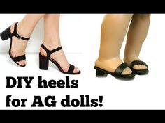 DIY High Heels for your American Girl doll! - YouTube