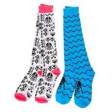 Neon Aztec Star Wars 2 Pack Knee High Socks