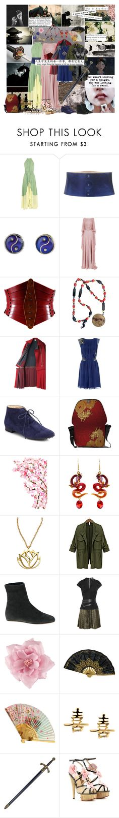 """Fa Mulan"" by smol-snowflake ❤ liked on Polyvore featuring Cullen, GET LOST, Saloni, Roberto Cavalli, Monsoon, Elie Saab, Úna Burke, Just Cavalli, Kenzo and Tod's"