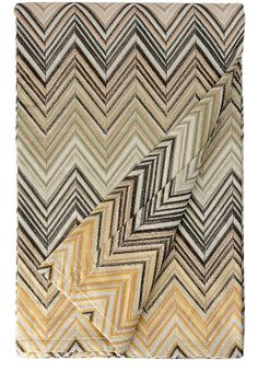 Cozy zigzag throw in muted tones by MissoniHome