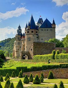 Castle Bürresheim (Schloss Bürresheim), near Mayen, Rhineland-Palatinate, Germany.