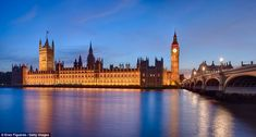 London calling: While perhaps not as sublime as Bryce Canyon, a panoramic view of Big Ben, the London Parliament, and Westminster Bridge evo...