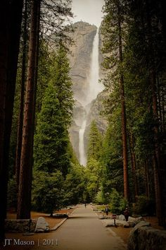 Yosemite Falls.  We have been here.  The most beautiful park I've ever seen.