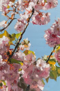 Blossoms Painting by Jan DeVliegher