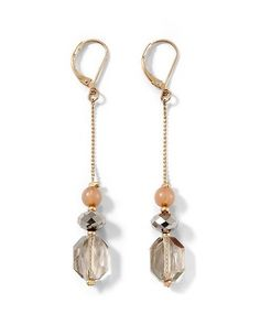 White House   Black Market Gray/Blush Crystal Linear Earring
