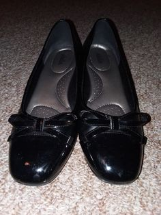 9a104d4b73d Black Work Dress Abella shoe with Patleather Toe and Heel size 9  fashion