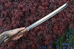 CFK USA iPak Custom Handmade D2 LARGE Rai Wakizashi Sword Combat Battle Knife #CFKCutleryCo