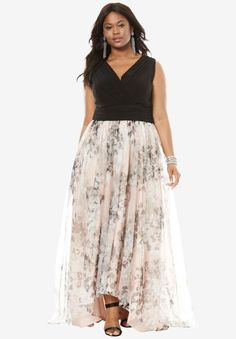 beffffe225a Printed High Low Dress Evening Dresses Plus Size