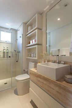 wandregale und unterschrnke bringen stauraum in kleine badezimmer smallbathroom storage interior - Badezimmer In Holzoptik