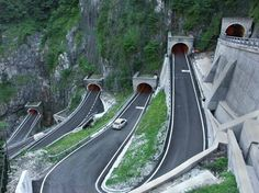 The San Boldo Pass is a small mountain pass in the Italian Veneto region between the towns Trichiana and Tovena in the Cison di Valmarino region over a distance of 17 km.