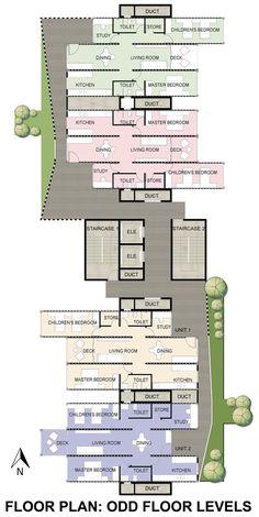 GA Designs Radical Shipping Container Skyscraper for Mumbai Slum,Odd Floor Plan. Image Courtesy of GA Design India Architecture, Sustainable Architecture, Architecture Plan, Architecture Details, Container Architecture, Mumbai, Interior Design Layout, Shipping Container Homes, Shipping Containers