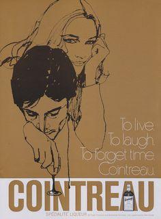 1969 Cointreau Liqueur Ad Vintage Liquor by AdVintageCom on Etsy
