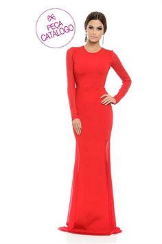 $1245 Vestido Longo Vermelho - roupas-festas-vestido-longo-vermelho Iorane