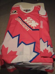 Team Canada Sami Jo Small Game Issued Goalie Jersey(pink) from $229.59