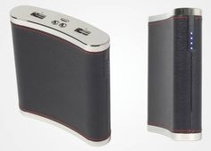PowerFlask – A 13,000mAh Power Bank Shaped Like A Flask, $89.95