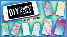 DIY PHONE CASES! Many iPhone Case DIY Ideas: Colorful, Pattern ...