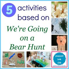 5 We're Going on a Bear Hunt for Preschool Book Club Time Activities, Kids Learning Activities, Educational Activities, Teaching Strategies Gold, Teaching Ideas, Preschool Books, Kindergarten Literacy, Preschool Classroom, Preschool Ideas
