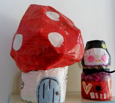 Those yoghurt drinks really are good for you... paper mache.