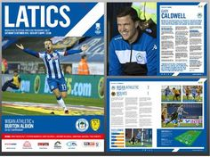 PICK UP YOUR LATICS V BURTON ALBION OFFICIAL MATCH PROGRAMME