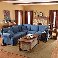 Denim Living Room Furniture - Foter | For the Home | Pinterest | Living room furniture Living rooms and Room : denim sectional - Sectionals, Sofas & Couches