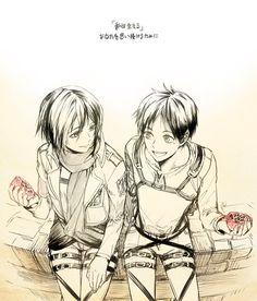 Eren and Mikasa, Shingeki No Kyojin