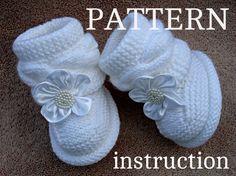 Knitting PATTERN Baby Booties Baby Shoes Pattern von Solnishko43