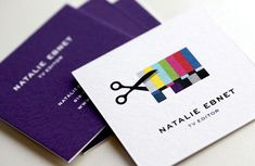 Television editor business card by Mattson Creative