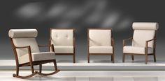 Douglas Series (HER724) is a synchronization of curves linking wood and elegant upholstery. Harmony combines a highly comfortable webbed seat, three different types of back with a modern and rational design, making the ranges suitable for contract as well as home atmospheres, available as both upholstered lounge chair and sofa both have arms crafted from solid beech.