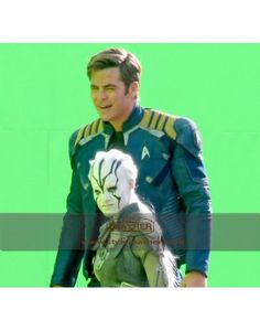 Star Trek Beyond 2016 Chris Pine Uniform Jacket - Celebrity Jacket http://styloleather.com