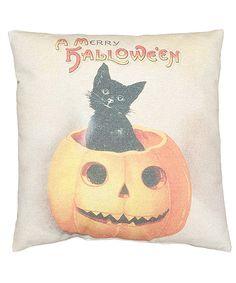 Cat in Pumpkin Vintage Pillow by Primitives by Kathy #zulily #zulilyfinds