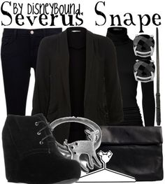 Always wanted to look like Snape lol #harrypotter #fashion #disneybound