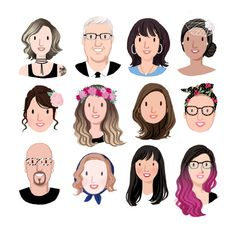 Cool father's day tech gifts for the social media dad: Custom avatar illustration from Kathryn Selbert Family Illustration, Portrait Illustration, Character Illustration, Digital Illustration, Tree Illustration, Illustration Fashion, Art Illustrations, Fashion Illustrations, Legolas
