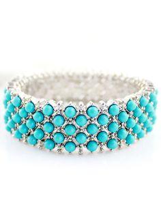 Blue Gemstone Silver Fashion Bracelet US$7.67
