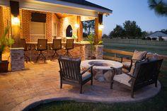 Outdoor Fireplaces & Firepits, Houston, Katy, Cinco Ranch - Texas Custom Patios