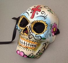 Skeleton Masquerade Mask Day of the Dead Dia De by Crafty4Party