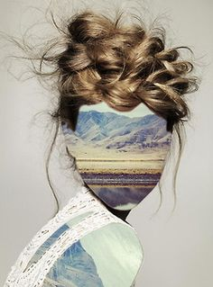 Haircut 1 (with Andrew Tamlyn) by Erin Case digital assemblage/collage.
