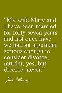 haha - till death, do us part. :D