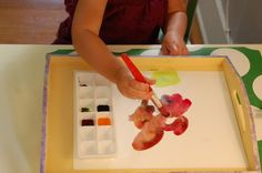 Tidy Watercolor Painting with Toddlers, from Tinkerlab.com
