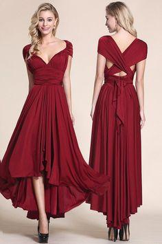 Convertible High Low Bridesmaid Dress
