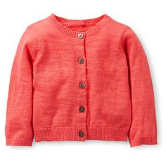 f87f58cd83e Sweet Apricot Bright Sweater Knit Cardigan Baby Girl Cardigans