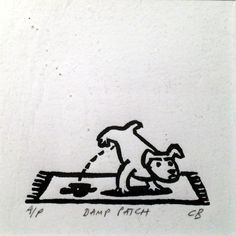 'Damp Patch' by Christopher Brown (linocut)